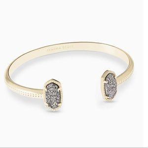 Kendra Scott Elton bracelet in gold platinum drusy